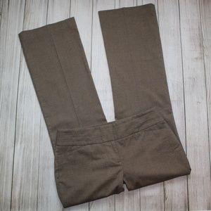 ANN TAYLOR LOFT Size 4 Brown Dress Pants